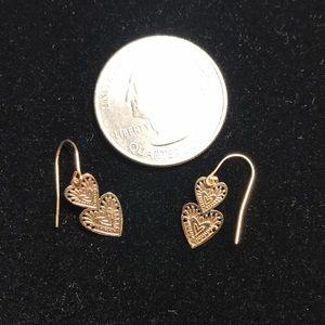 Jewelry - 14k heart earrings